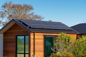home with off-grid solar systems