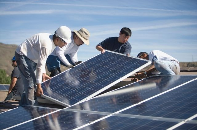 solar installation by professionals