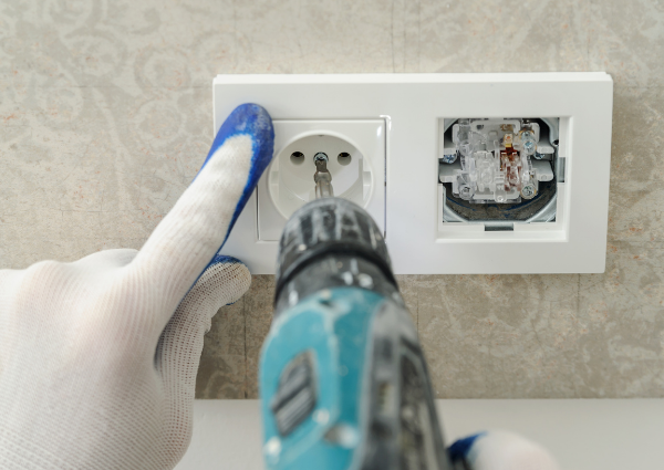 new electrical outlet installation