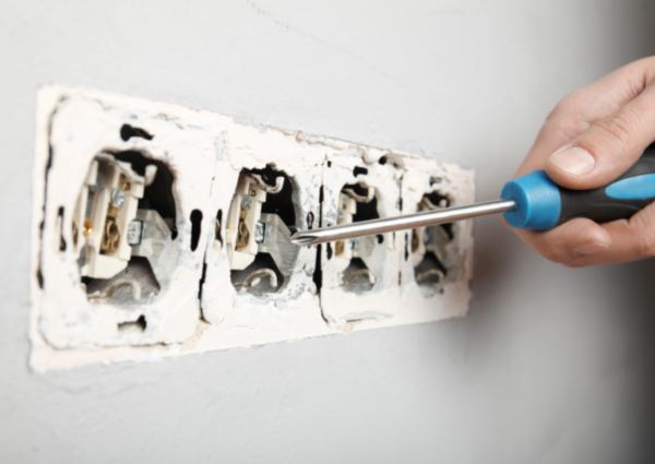 damaged electrical outlets